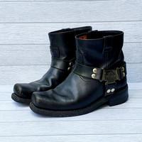 Sepatu boot Harley Davidson Original Leather asli size 42
