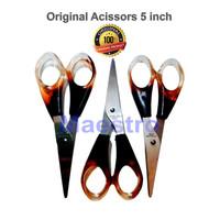Original Gunting Tajam 5 inch / Pemotong/Gunting Kertas Kain Asli