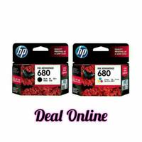 Paket Catridge Printer HP 680 Black Color -Tinta Original HP680