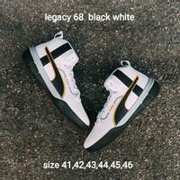 Sepatu Basket Puma Legacy 68 black and white