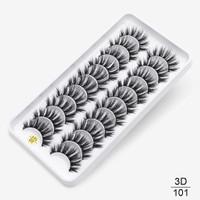 10 Pasang 3D Bulu Mata Palsu False Eyelashes Mink Natural Long