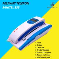 Telepon Kabel Sahitel S35 | Telephone Dinding Rumah Kantor - White