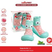 BABIESFIRST Rubber Shoes Kaos Kaki Sepatu Sol Karet Prewalker Shoes
