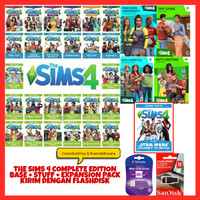 PC THE SIMS 4 COMPLETE EDITION BASE+FULL EXPANSION PACK(via flashdisk)