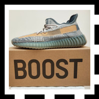 TH ORIGINAL Sepatu Adidas Yeezy Boost 350 V2 Israfil Size US 8.5 UK 8