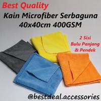 BEST QUALITY Kain Microfiber 40x40 Lap Meja Mobil Serbaguna 400GSM