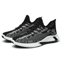 Sepatu Sneakers Phantom Vol 1 Running Shoes Sports Fashion Larocking - Hitam, 39