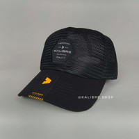 Topi / Cap kalibre full black Jaring pria