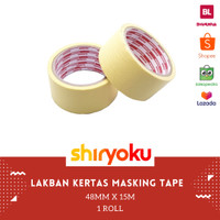 Masking Tape / Lakban kertas 2 x 15m sazanami Tape