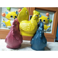 celengan plastik karakter ayam kecil souvenir