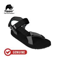Fipper Trekker / Sandal Pria / Black Grey Black