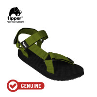 Fipper Trekker / Sandal Pria / Black Green Army