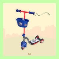 Mainan Skuter Roda Tiga Keranjang D007 Scooter Avenger
