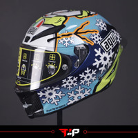 AGV PISTA ROSSI WINTER TEST 2016 SNOWMAN LIMITED EDITION HELM LANGKA