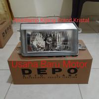 Headlamp Lampu Besar Depan Kristal 1pc Toyota Kijang Grand ( Depo )