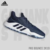 Sepatu Basket ADIDAS Pro Bounce 2K19 Low Navy/White 100% Original BNIB