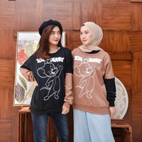 Tom & Jerry Sweater Babyteri Fashion Wanita Terbaru & Terlaris
