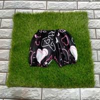 Celana balon bayi katun motif 0-12bulan love hitam