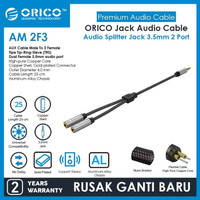Orico AM-2F3 2 in 1 3.5mm M To F Audio Splitter Male To Female Cable