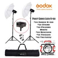 PAKET Lampu Zonacamera mini Studio Godox K-150 Army