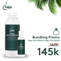 VIRGIN COCONUT OIL HEJO BUNDLING PAKET VCO 500ML + VCO 100ML