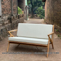 Sofa Retro Vintage Scandinavian Kayu Jati 2 Seater Sarjana Mebel