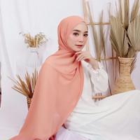Jilbab Pashmina Ceruty Babydoll - Salem Kerudung Pasmina Polos Harian