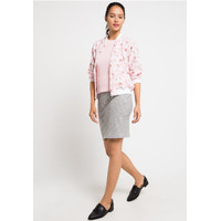 Edition Women ECB2 PINK Floral Bomber Jacket