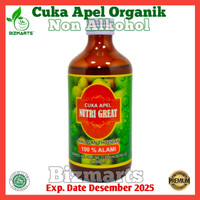 Nutrigreat Cuka Apel Vinegar Organic Apple Cider Non Alkohol Ampuh