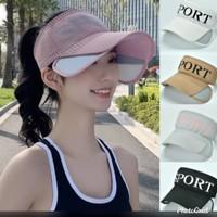 Topi wanita sport banyak warna, barang import