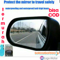STIKER ANTI FOG ANTI AIR KABUT RAINPROOF FILM KACA SPION 150x100mm - OVAL 150