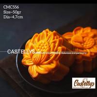 Cetakan kue Bulan Mooncake 50gr~CMC556 Motif Bunga lotus.