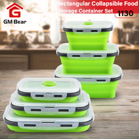 GM Bear Set Kotak Makan Lipat 1130-Foldable Rectangular Storage Lunch