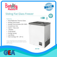 Sliding Flat Glass Freezer SD-103 / Freezer Ice Cream / Frozen Food