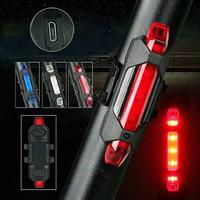Lampu Belakang Sepeda Rechargeable / Lampu LED USB Sepeda 4 Mode