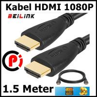 BEILINK Kabel HDMI Male Male 1.4 Support 1080P 3D Panjang 1.5 Meter