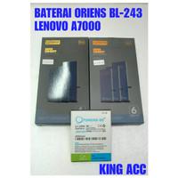 BATERAI BATRE BATTERY LENOVO A7000 BL243 BL-243 A7000A A7000PLUS ORIEN