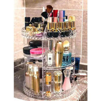 Rak Make Up Kosmetik Putar Organizer Acrylic 360 Transparant