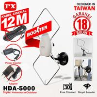 antena tv digital analog indoor outdoor PX HDA-5000 antena luar dalam
