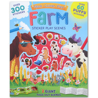 Farm Sticker Play Scenes (Over 300 Stickers, Over 60 Puffy Stickers, a