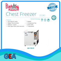 Chest Freezer Frozen Food GEA AB-106-R