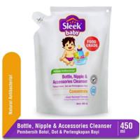 Sleek Baby Bottle Nipple & Baby Accessories Cleanser Refill 450ml
