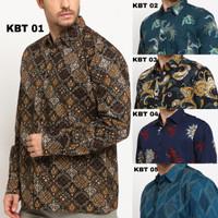 KBT Kemeja Batik Songket Pria Panjang Kerja Kantor Slimfit Baju Batik