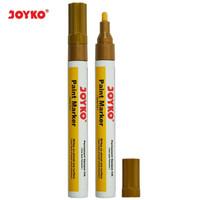 Paint Marker Spidol Cat Permanen Joyko PTM-43 Gold Round Tip