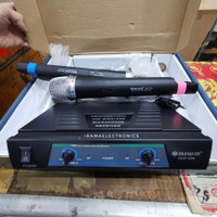 MIC WIRELESS N AIWA 358 2 Handheld Microphone Jernih