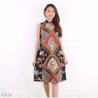 Azkia Dress - Dress Batik Wanita Terusan Wanita
