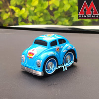 Pajangan Miniatur Diecast Mainan Mobil VW Beetle Kodok Klasik Karakter