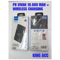 VIVAN VPB-W10 10000mAh Quick Charge Wireless Power Bank Grey Plus Cyan