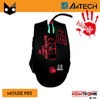 Mouse Gaming P85 Wired LED Mouse USB A4tech RGB Pixart Sport Bloody
