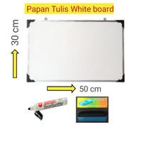 papan tulis whiteboard ukuran 30x50 cm